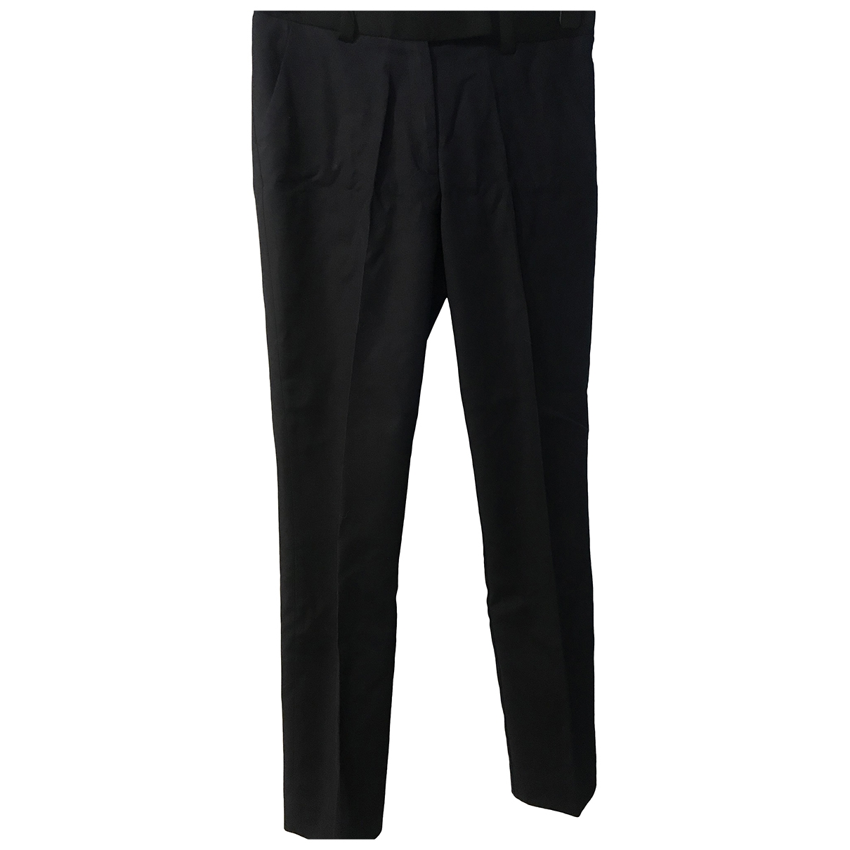 Whistles \N Blue Cotton Trousers for Women 10 UK