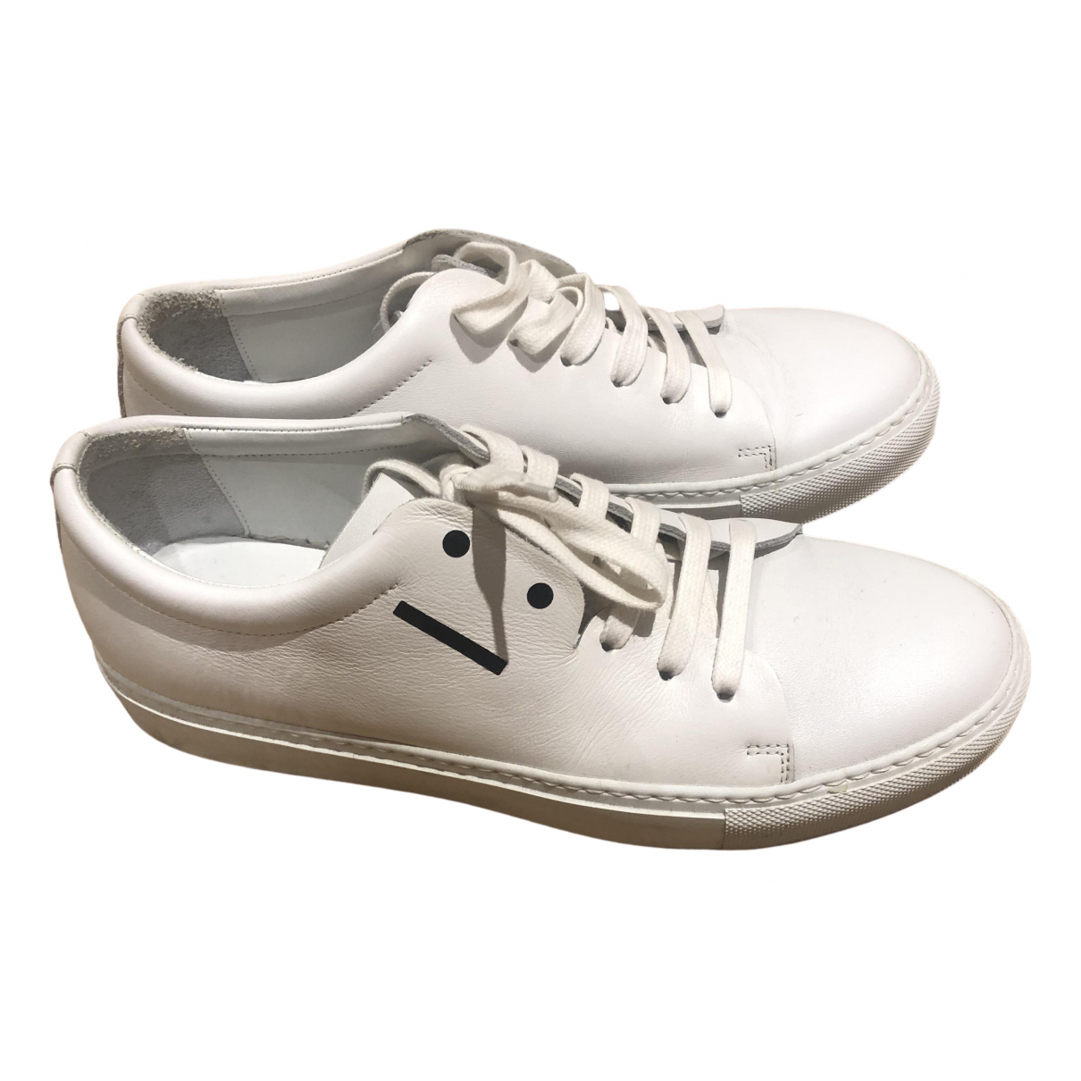 Acne Studios \N White Leather Trainers for Men 40 EU