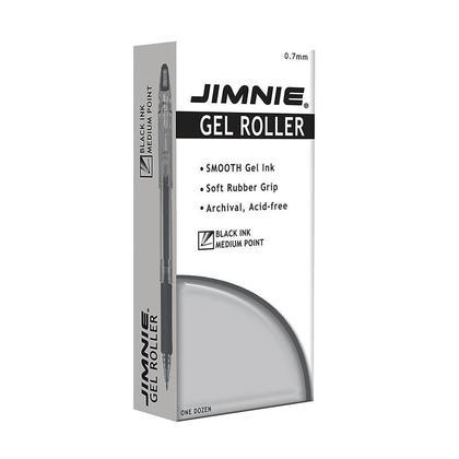 Zebra@ Jimnie gel rollerball stylos a bille - 0.7mm, 12 /Boite - Noir