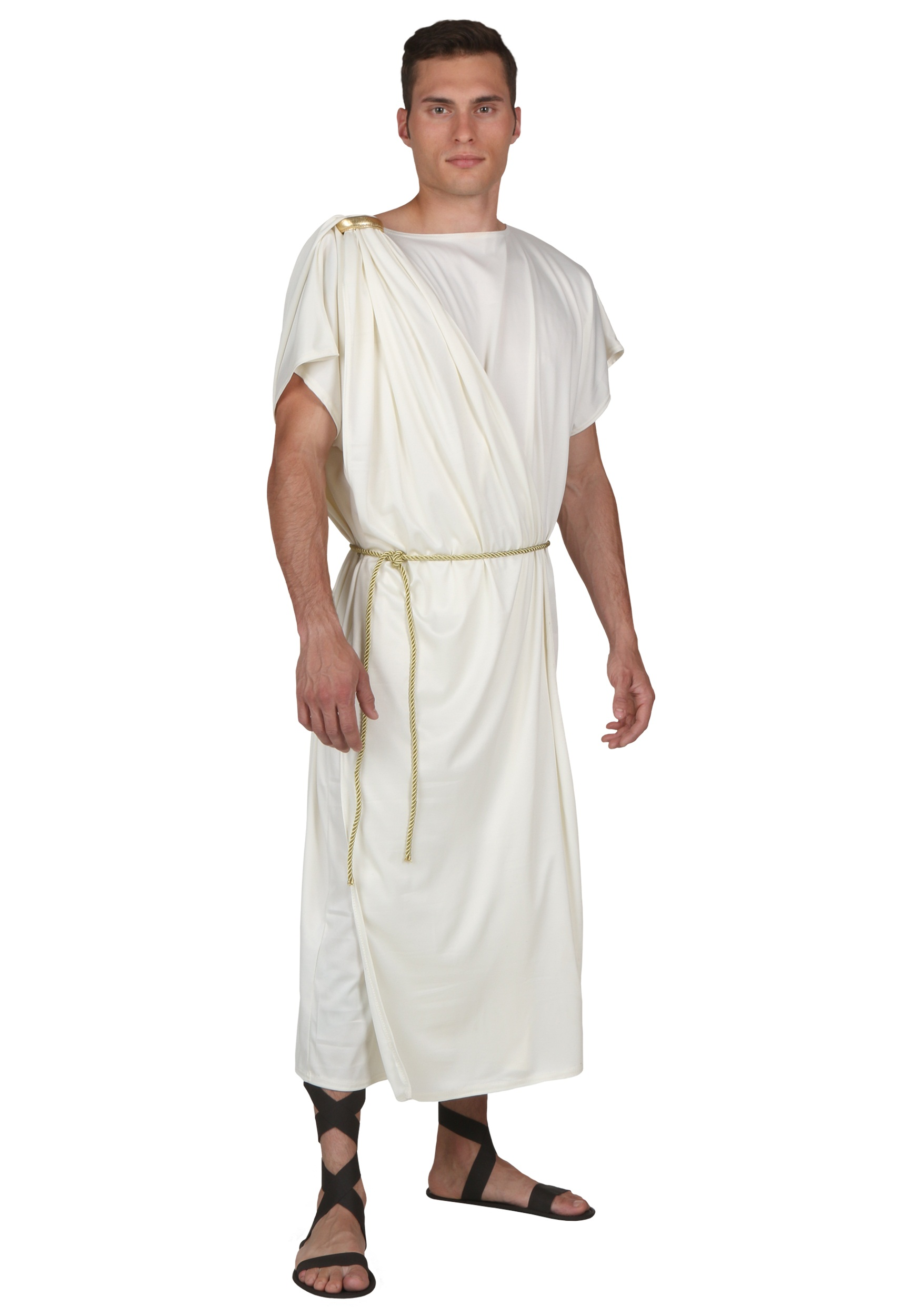Plus Size Toga Halloween Costume for Men   Greek Costume