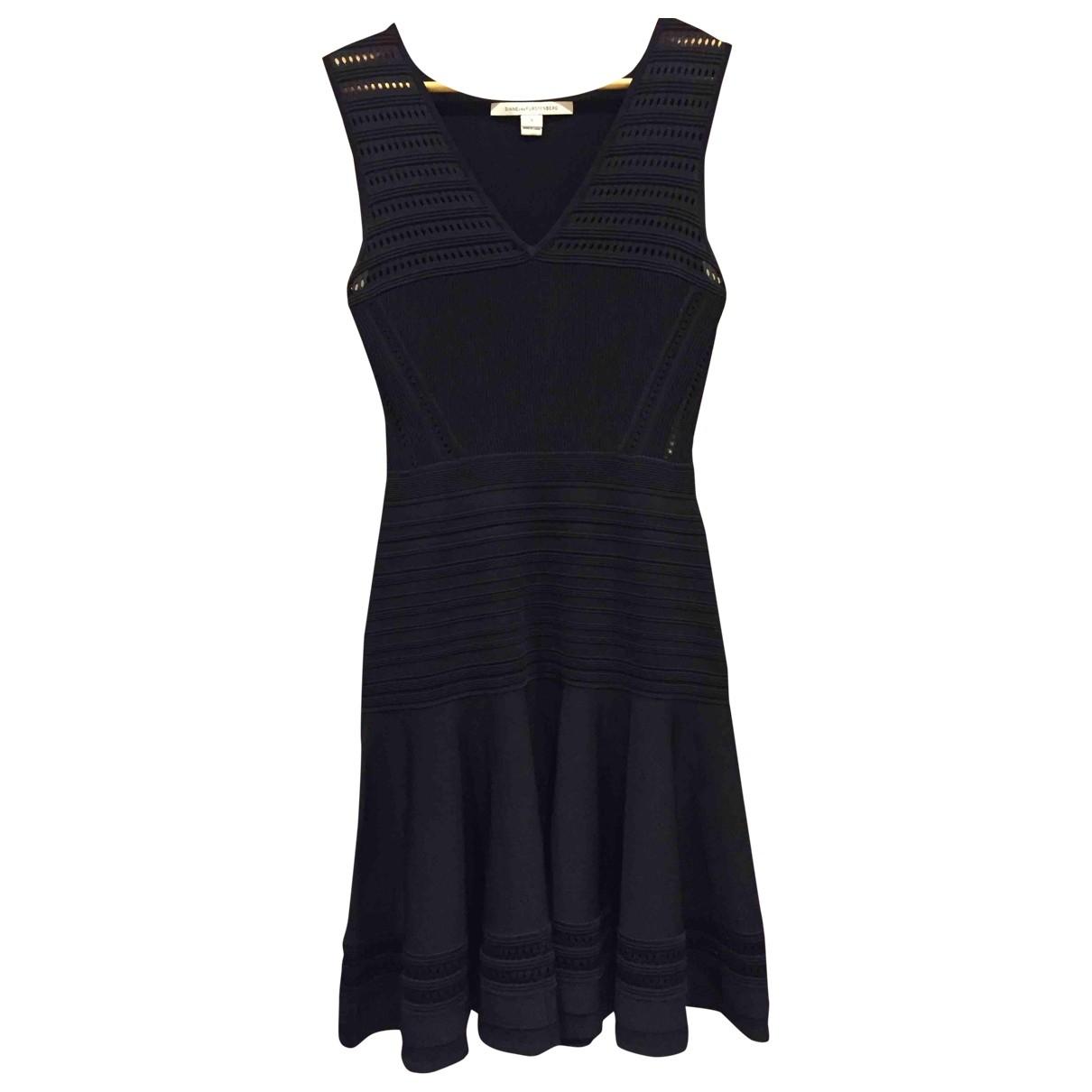 Diane Von Furstenberg \N Black Cotton - elasthane dress for Women S International