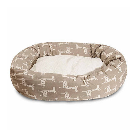 Majestic Pet Stretch Sherpa Bagel Pet Bed, One Size , Brown