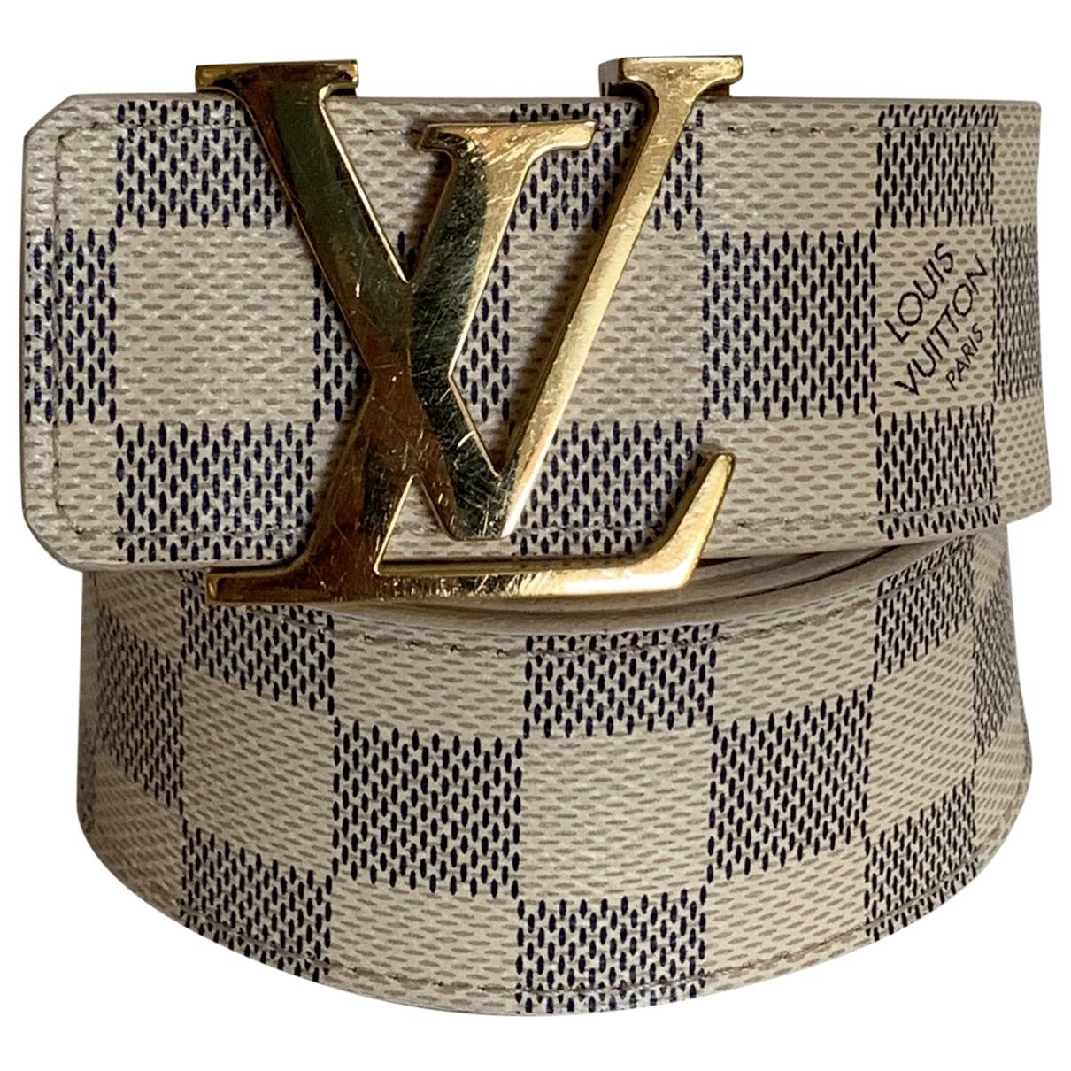Louis Vuitton Initiales White Cloth belt for Women 85 cm