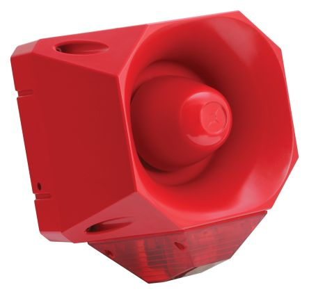 Fulleon Asserta Maxi Sounder Beacon 120dB, Red LED, 230 V ac, IP66
