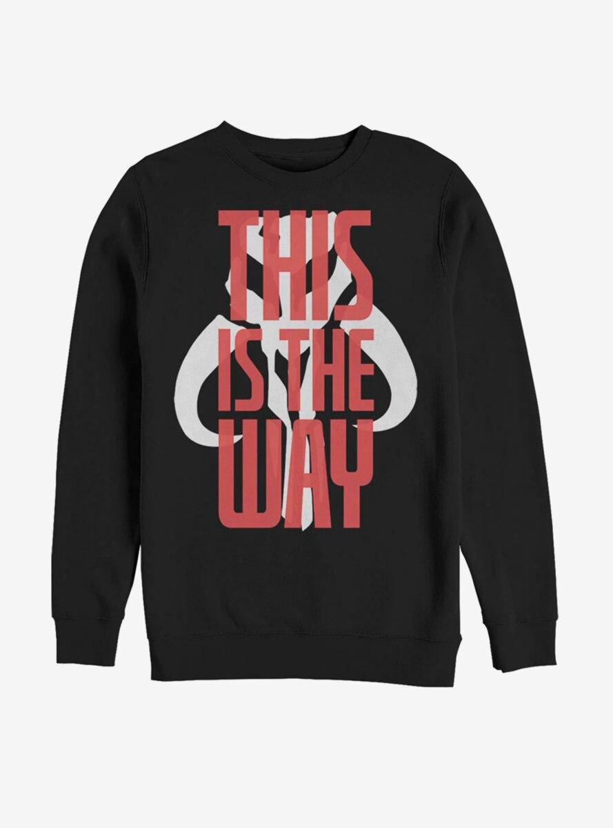 Star Wars The Mandalorian This Is The Way Bold Script Sweatshirt