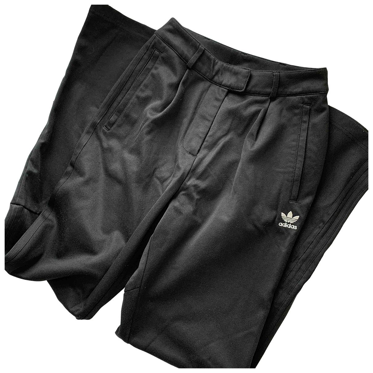 Adidas \N Black Cotton Trousers for Women 4 UK