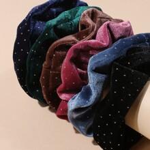 6pcs Solid Velvet Scrunchie