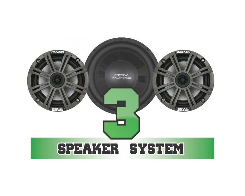 SSV Works RZR-3K Complete 3 Kicker Speaker System Polaris RZR 570 EPS Trail LE 2014