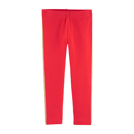 Carter's Toddler Girls Legging, 3t , Red