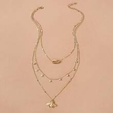 Bee & Shell Layered Necklace