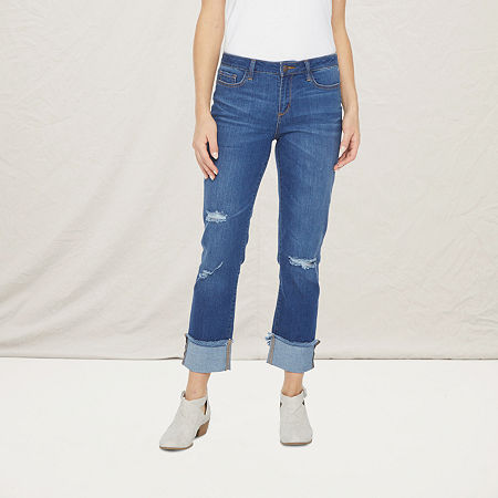 a.n.a Womens Ripped Straight Jean, 2 , Blue