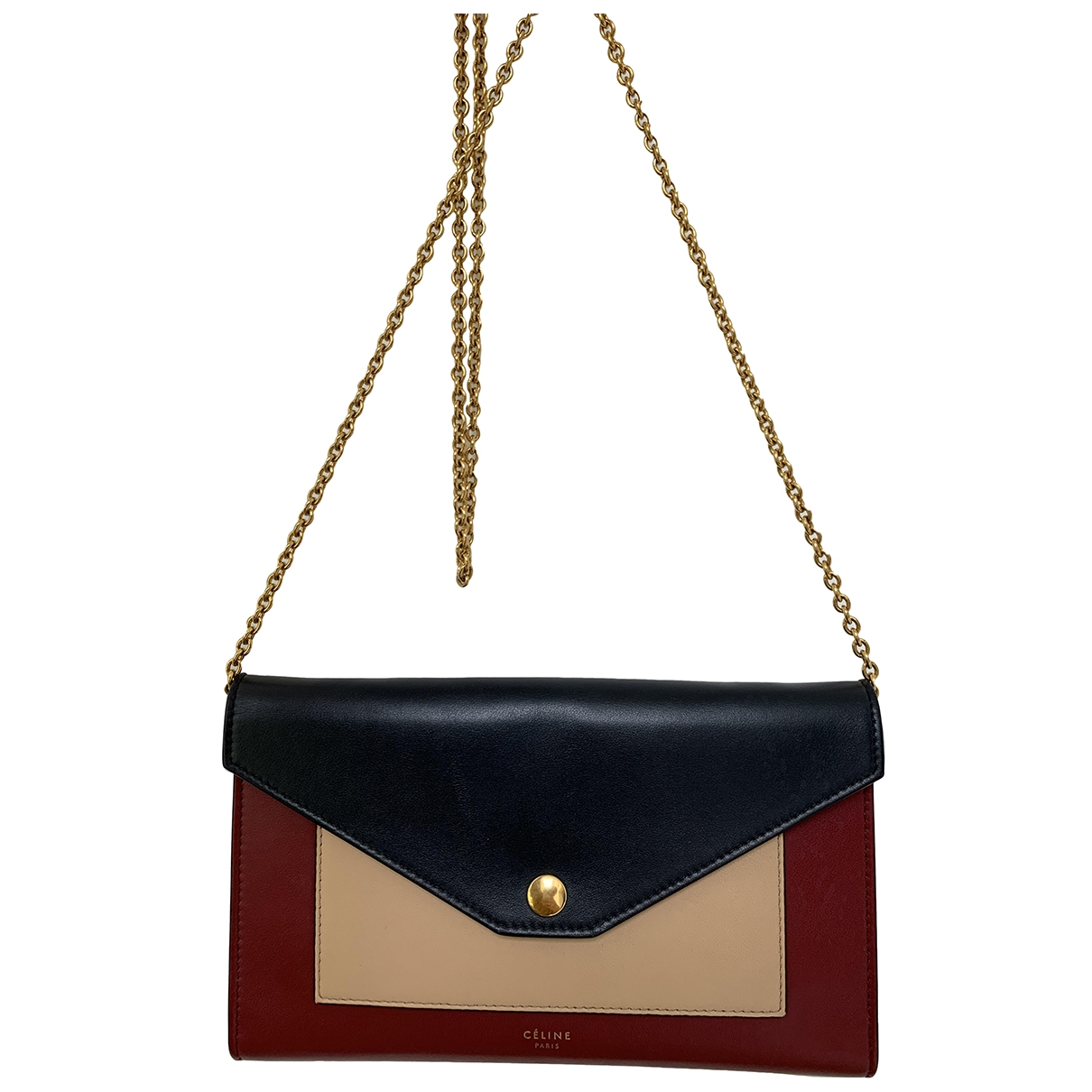 Celine Pocket Red Leather handbag for Women \N
