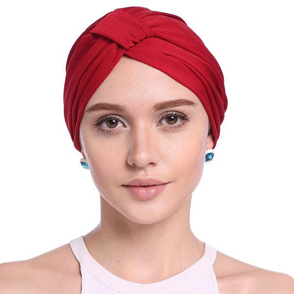 Women Elastic Beanie Hat UV Protect Hair Accessory Summer Beach Sun Cap