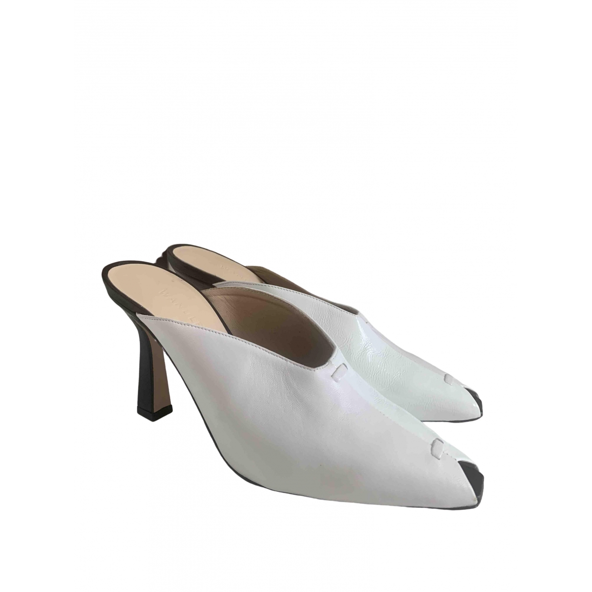 Wandler \N White Patent leather Sandals for Women 38 EU