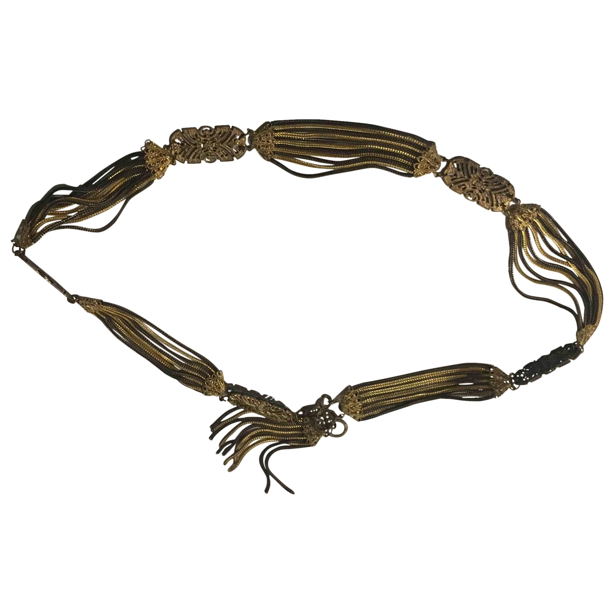 Non Signé / Unsigned \N Gold Metal belt for Women XS International