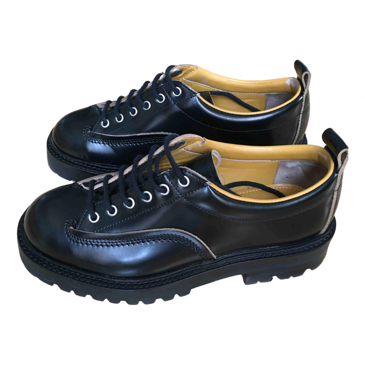 Marni \N Black Leather Lace ups for Men 41 EU