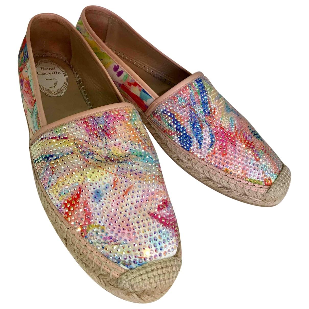 Rene Caovilla \N Multicolour Glitter Espadrilles for Women 41 EU