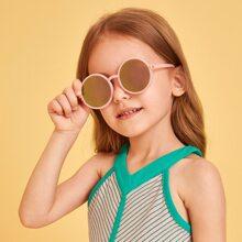 Girls Round Frame Tinted Lens Sunglasses