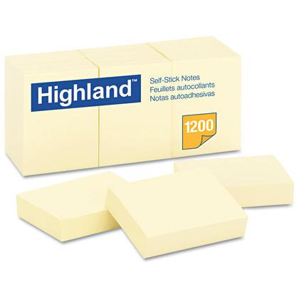 3M Highland feuillets autocollants stickies, packet de 12 260356
