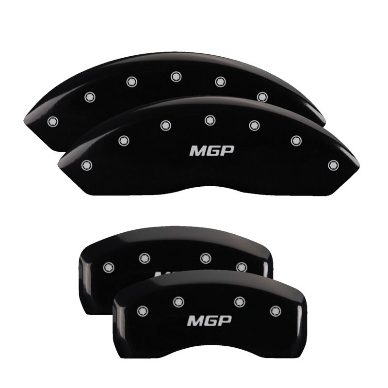 MGP Caliper Covers 16234SMGPBK Set of 4: Black finish, Silver MGP / MGP Toyota FJ Cruiser 2007-2014