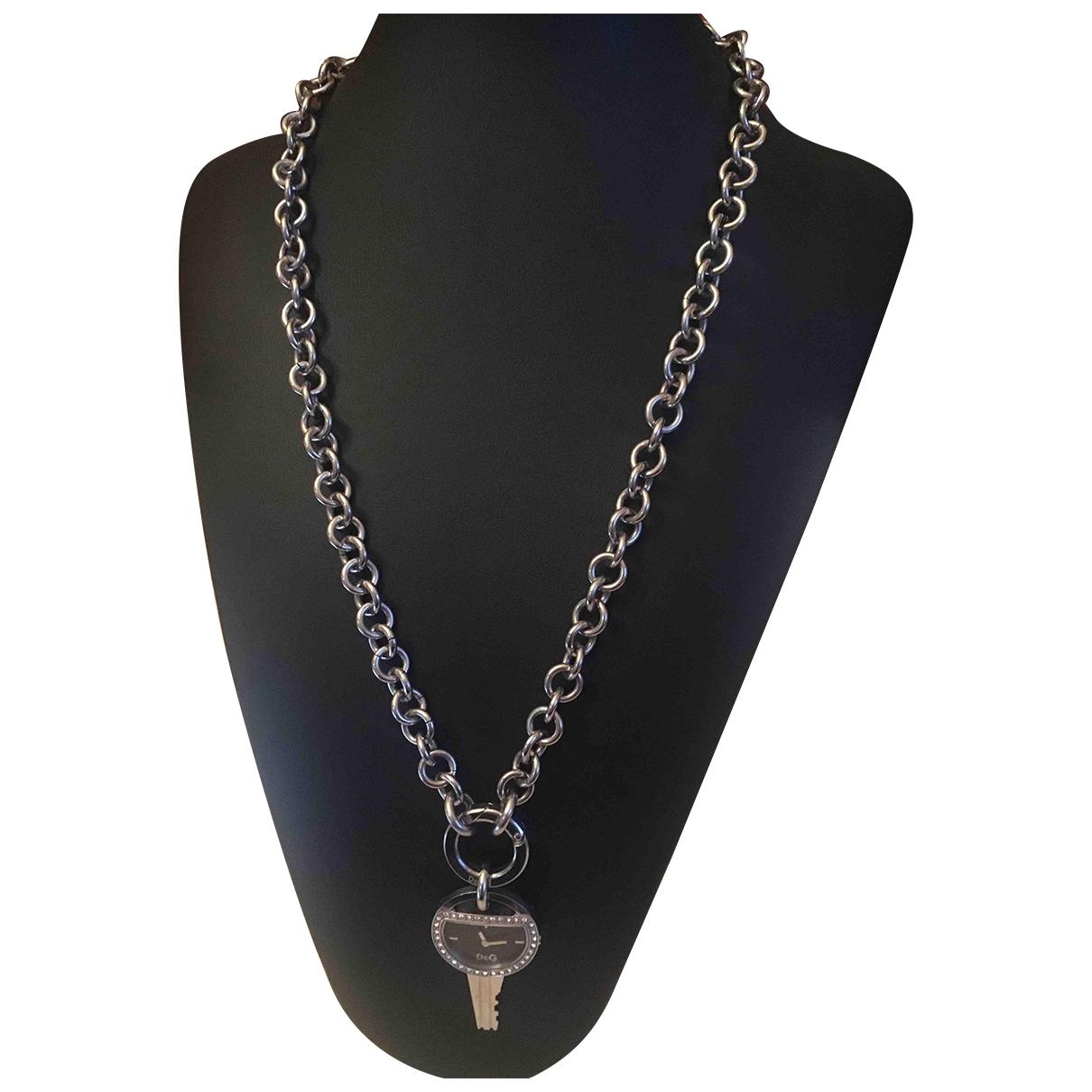 Dolce & Gabbana \N Silver Steel necklace for Women \N