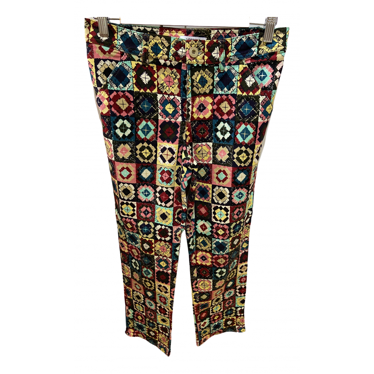 Moschino Cheap And Chic \N Multicolour Cotton Trousers for Women 40 IT