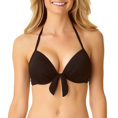 a.n.a Bra Bikini Swimsuit Top, Medium , Black