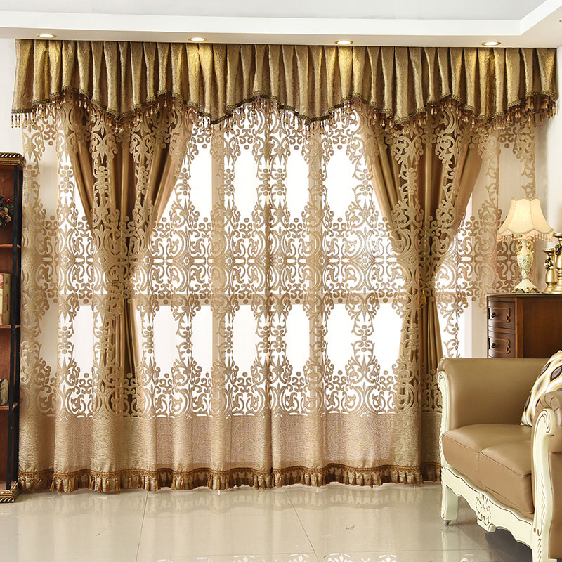 European Ventilate Curtain Custom Living Room Sheer Curtains Breathable Voile Drapes No Pilling No Fading No off-lining