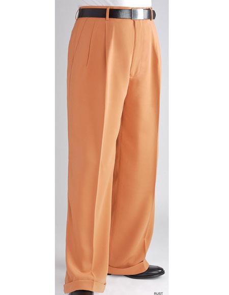 Mens Stylish Wide Leg Pants Peach ~ Light Orangish