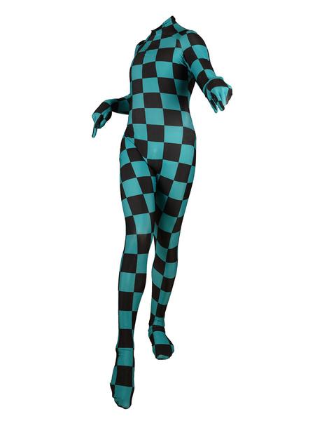 Milanoo Demon Slayer Kimetsu No Yaiba Tanjirou Kamado Cosplay Costume Zentai Jumpsuit
