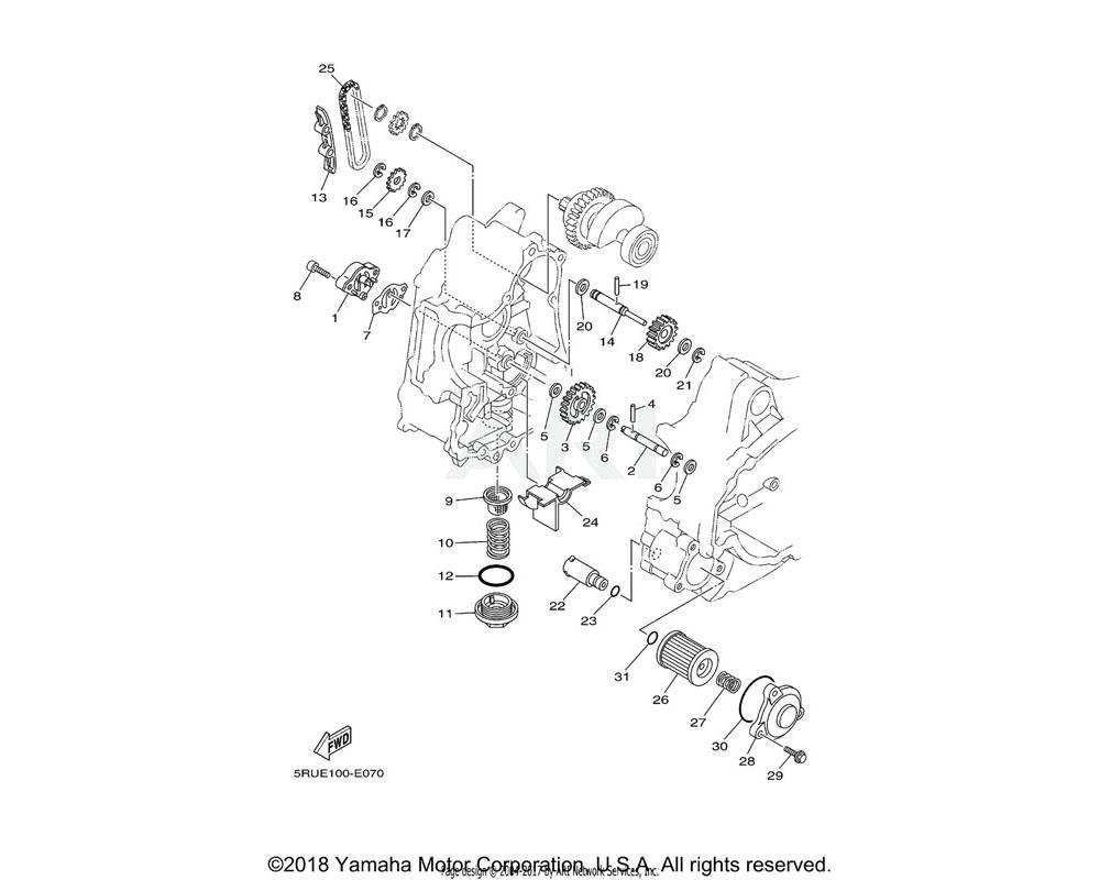 Yamaha OEM 5RU-13490-00-00 RELIEF VALVE ASSY