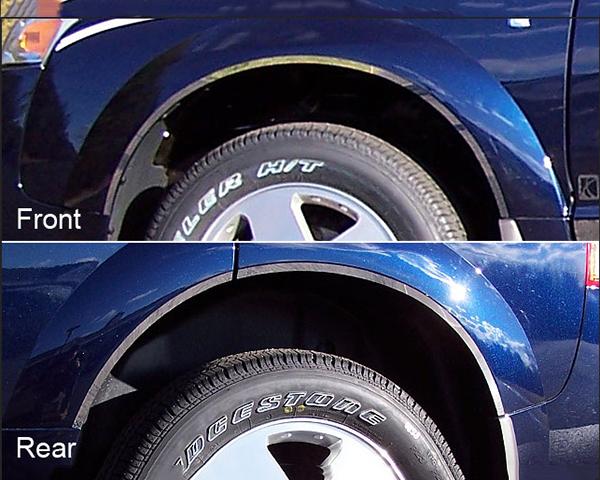 Quality Automotive Accessories 6-Piece Stainless Steel Wheel Well Fender Trim Kit Saturn Vue 2003