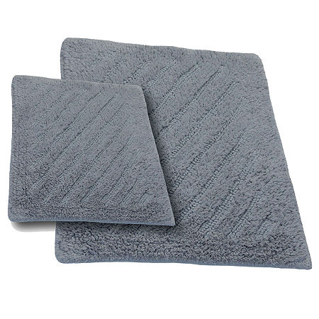 Castle Hill London Shooting Star Reversible 2-pc. Bath Rug Set, One Size , Silver