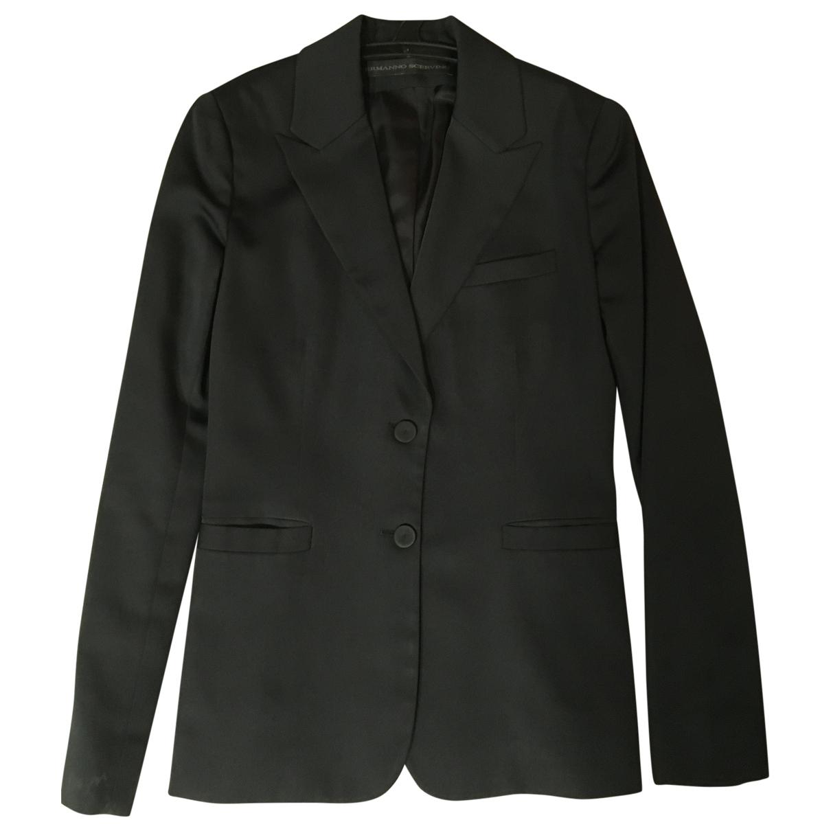 Ermanno Scervino \N Black jacket for Women 38 IT