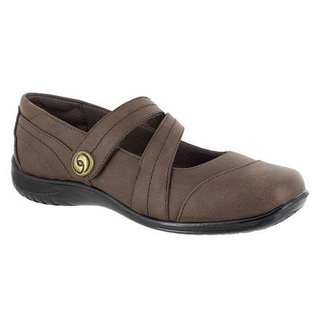 Easy Street Womens Mary Slip-On Shoe, 7 1/2 Narrow, Brown