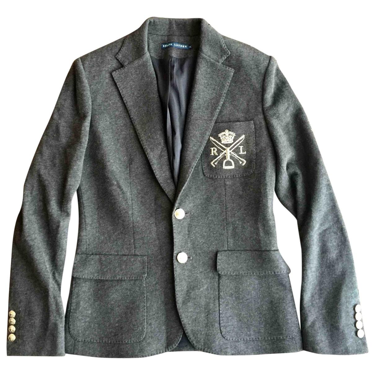 Ralph Lauren \N Anthracite Cotton jacket for Women 8 UK