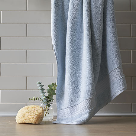 PureSpun Organic Cotton Bath Towel, One Size , Blue