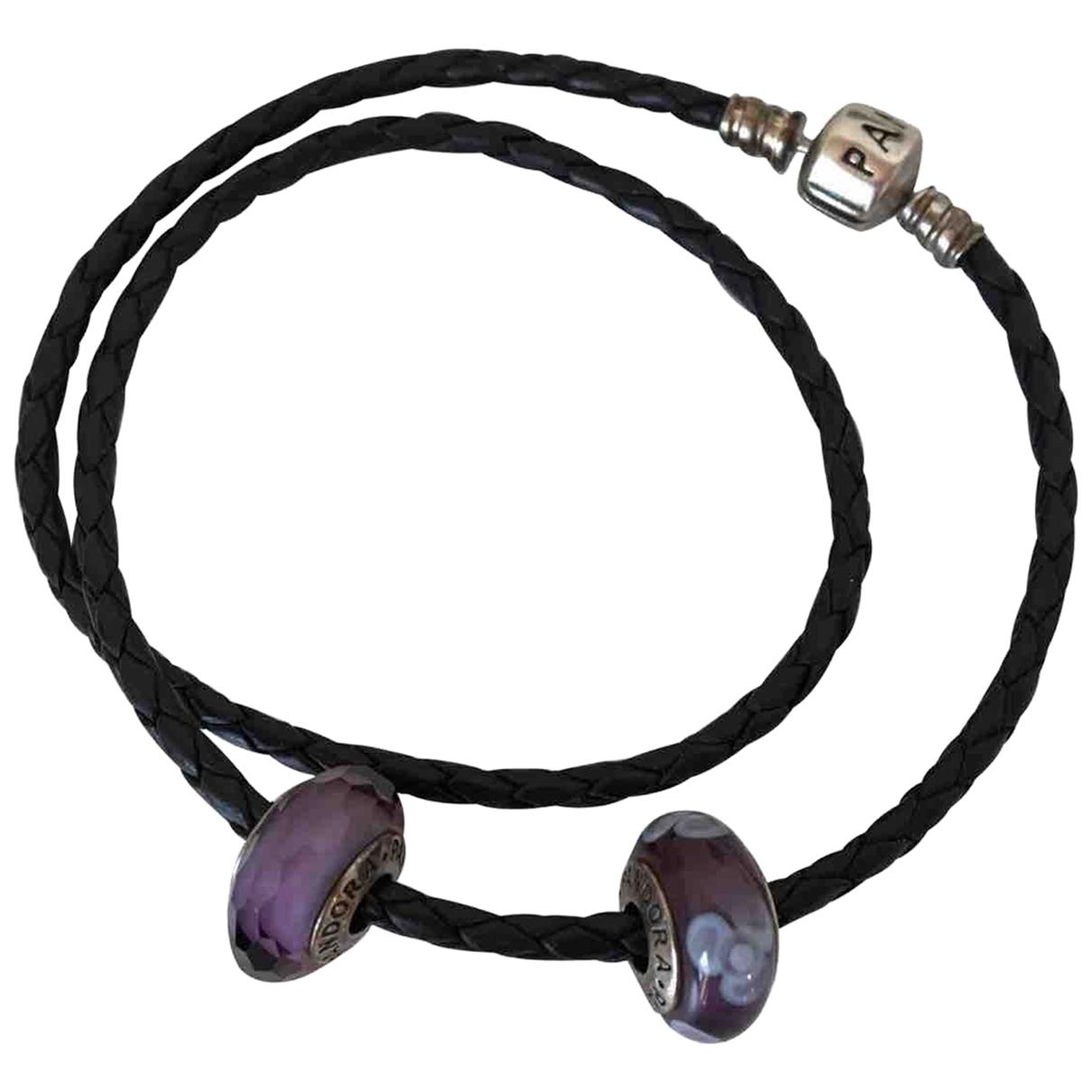 Pandora \N Black Leather bracelet for Women \N