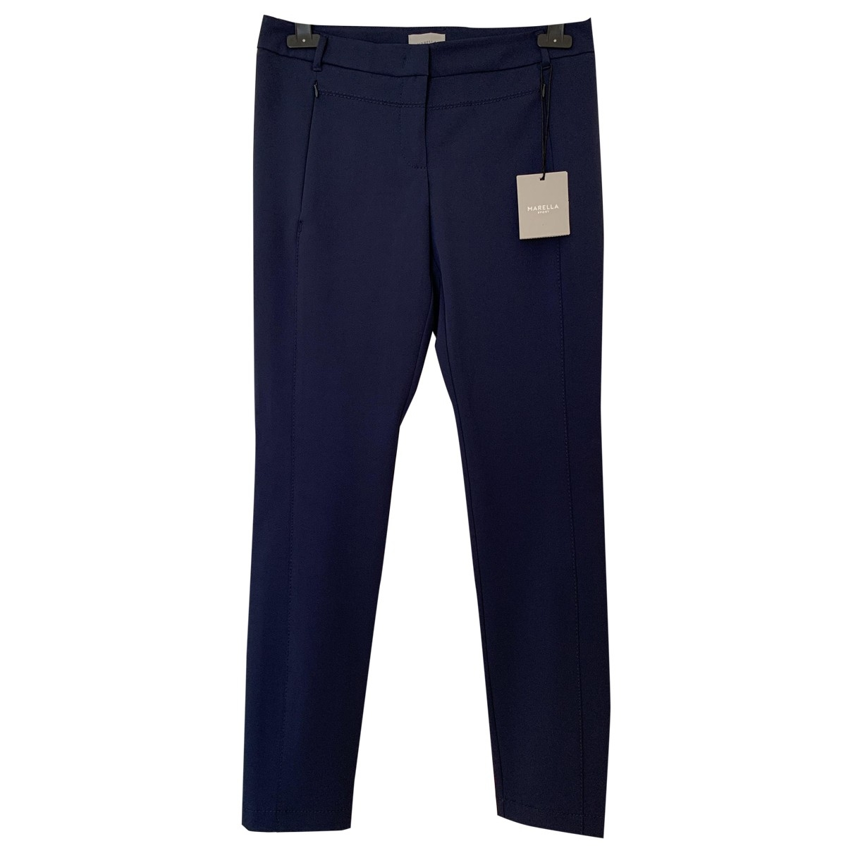Marella \N Blue Trousers for Women 36 FR