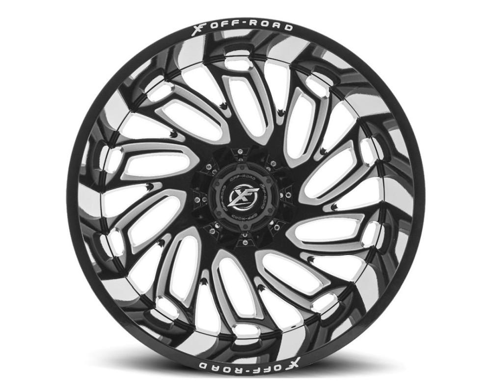 XF Off-Road XF-207 Wheel 20x12 5x127|5x139.7 -44mm Gloss Black w/ Milled Window