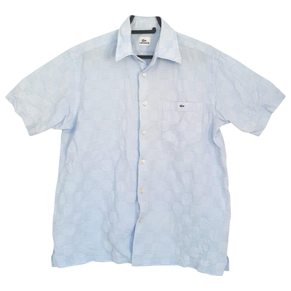 Lacoste \N Blue Cotton Shirts for Men M International