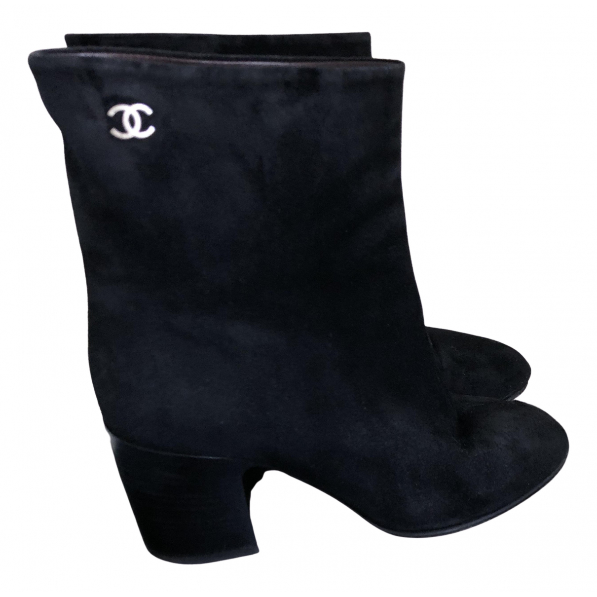 Chanel \N Black Leather Boots for Women 37.5 EU