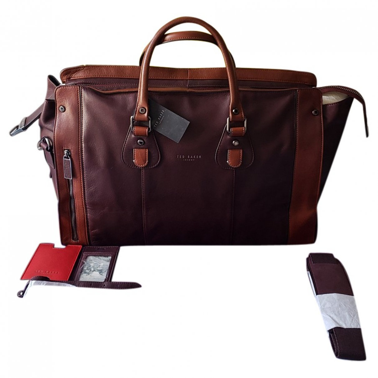 Ted Baker \N Burgundy Leather bag for Men \N