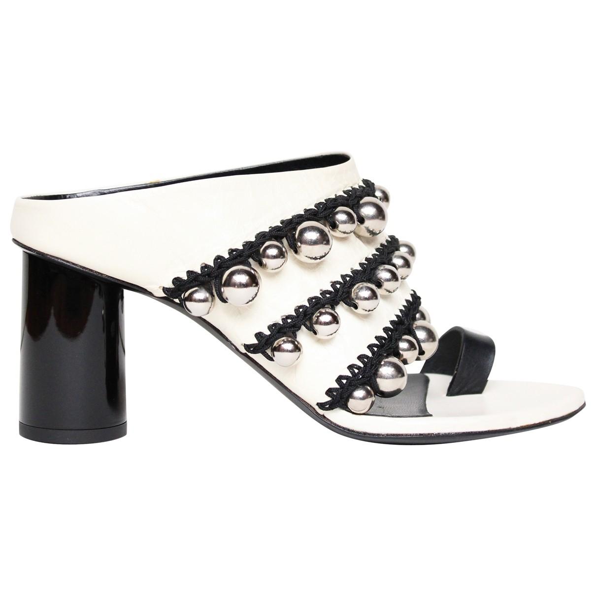 Proenza Schouler \N White Leather Sandals for Women 37 EU