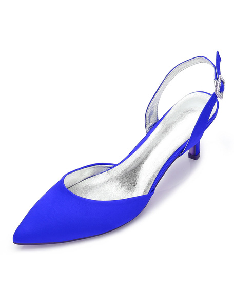 Milanoo Champagne Wedding Shoes Pointed Toe Kitten Heel Bridal Shoes