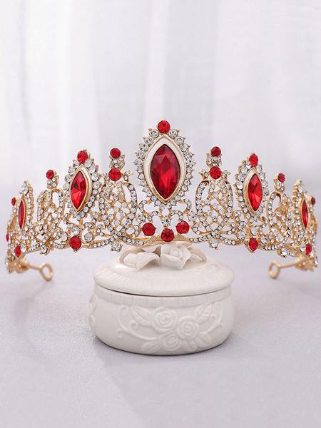 Milanoo Wedding Headpiece Tiara Metal Rhinestone Bridal Hair Accessories