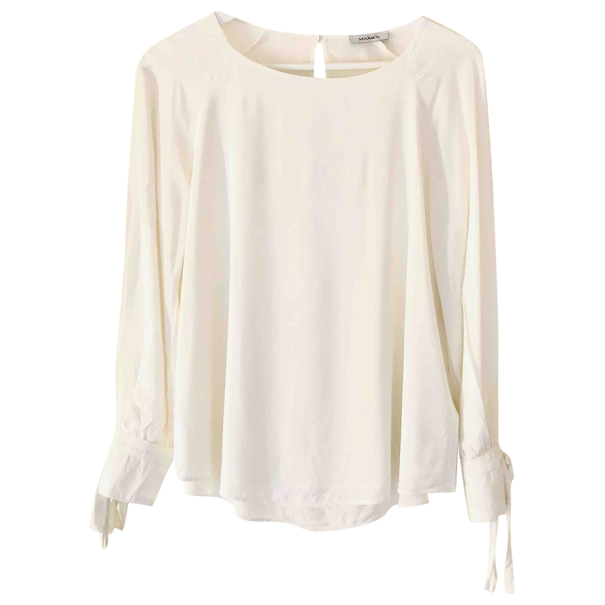 Max & Co \N White Silk  top for Women 36 IT