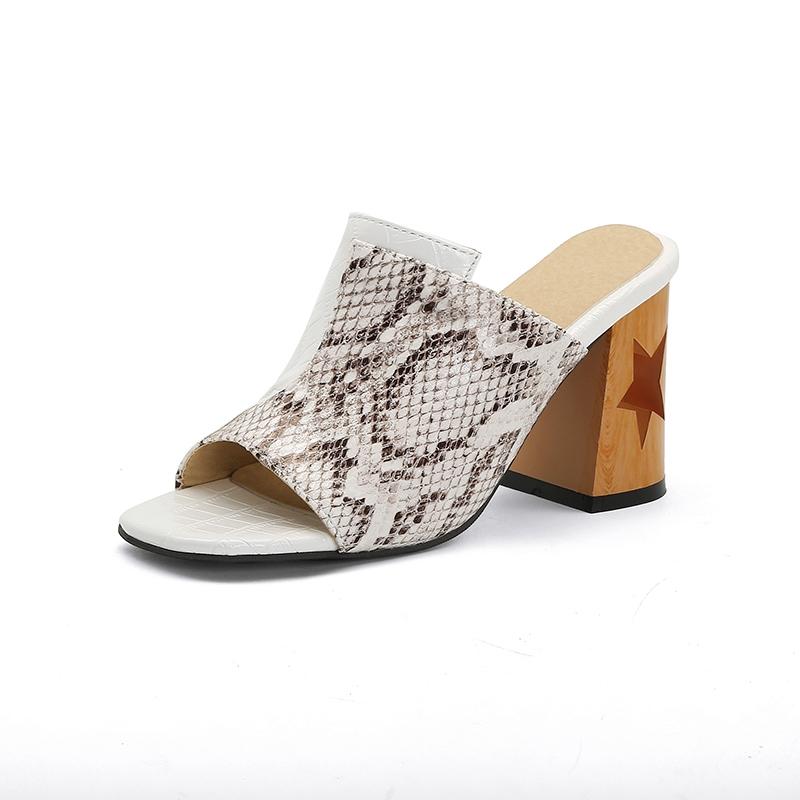 Ericdress Chunky Heel Slip-On Thread Summer Slippers