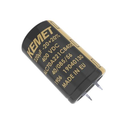 KEMET 220μF Electrolytic Capacitor 400V dc, Snap-In - ALC70A221CB400 (160)