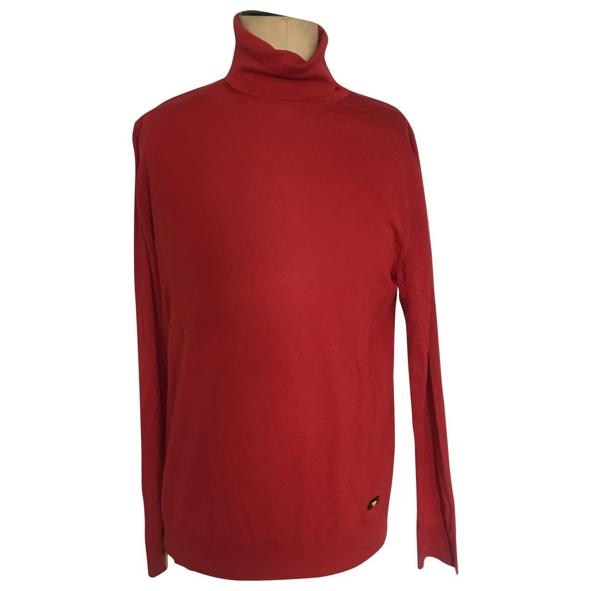 Versace \N Red Cotton Knitwear & Sweatshirts for Men 50 IT